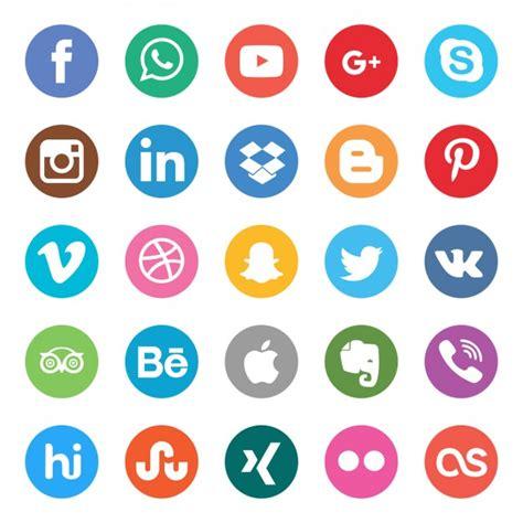 imagenes de redes sociales gratis set de botones de colores de redes sociales descargar