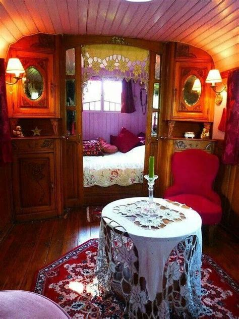 gypsy living   gypsy decor vintage caravan