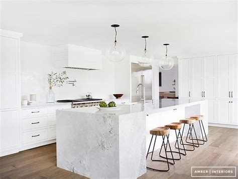 marble island kitchen interior design inspiration photos by amber interiors