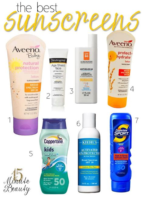 8 Best Sunscreens For The Ultimate Protection by 36 Best Images About Best Skin Care Tips On