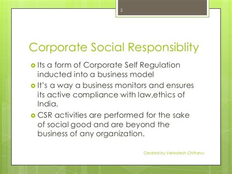 Business Ethics And Corporate Social Responsibility Mba Notes by Corporate Social Responsibility