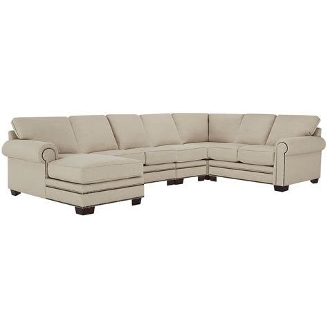 large chaise sectional city furniture foster khaki fabric large left chaise