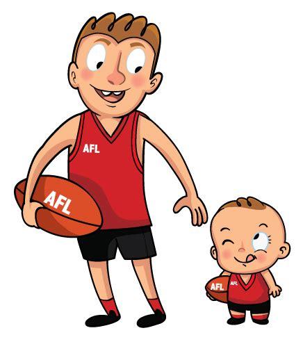 Father And Son Cartoon | father and son footballer cartoon ecartoonman 169