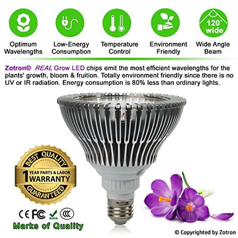 led grow light bulb zotron led grow light 24w newest 3rd generation growing