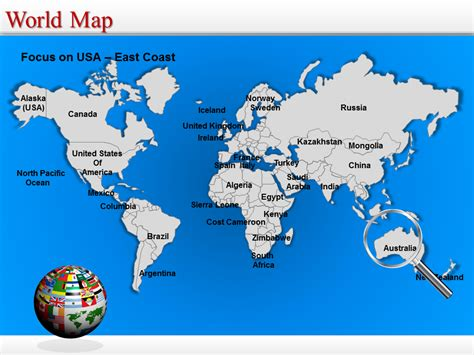 World Map Powerpoint Editable World Map World Map Ppt Template World Map Template Powerpoint