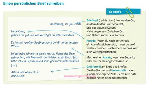 Deutsche Brief Beispiel Einen Pers 246 Nlichen Brief Schreiben 171 L E A R N G E R M A N