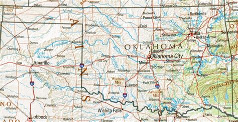 roadmap of oklahoma oklahoma reference map