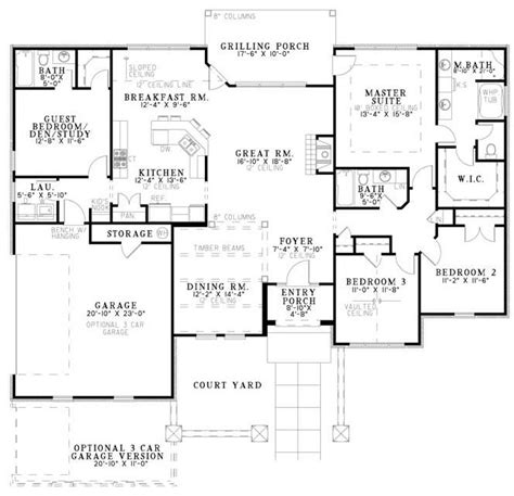 house plans 2000 square feet one story pinterest