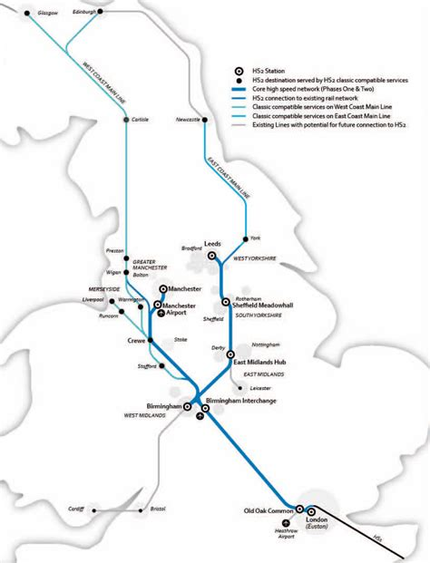 high speed 2 second phase route unveiled news