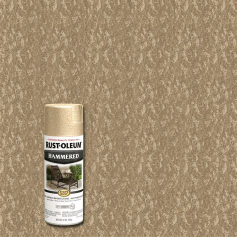 rust oleum stops rust 12 oz protective enamel hammered oatmeal spray paint 6 pack 250899