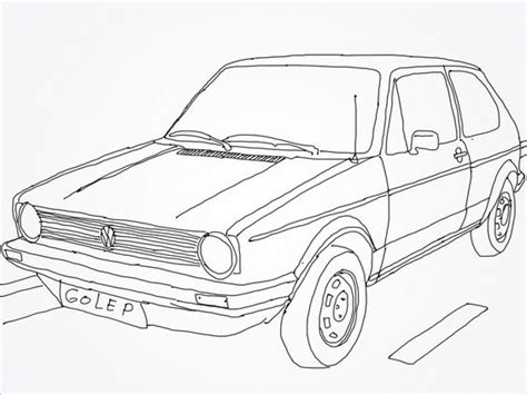 Carro De Golf Autocad by Vw Golf Mk 1 Drawing Drawing Vehicle Car Motorcycle