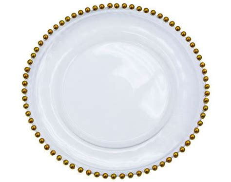 gold beaded glass charger plates linens and events gold glass beaded charger plate rental