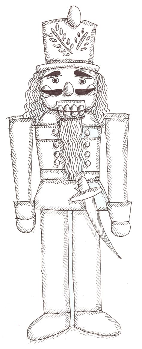 nutcracker coloring pages    print