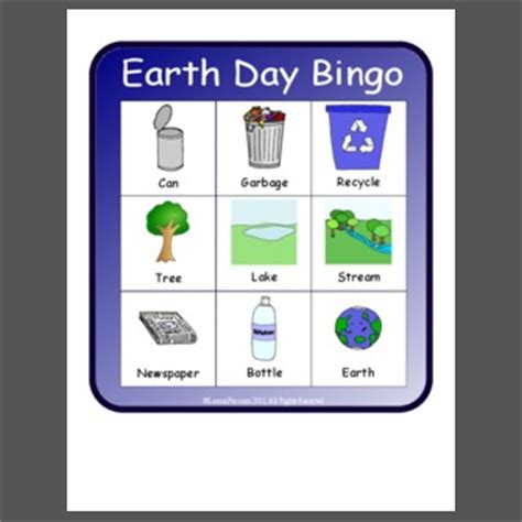 day bingo earth day bingo