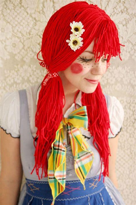 rag doll hair diy diy tutorial diy costumes diy rag doll