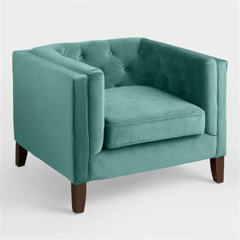 Teal Green Chair Teal Velvet Kendall Chair World Market