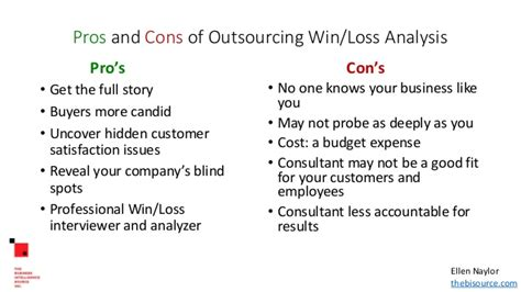 Mba Outsourcing by Outsourcing Win Loss Analysis Finding The Right Consultant