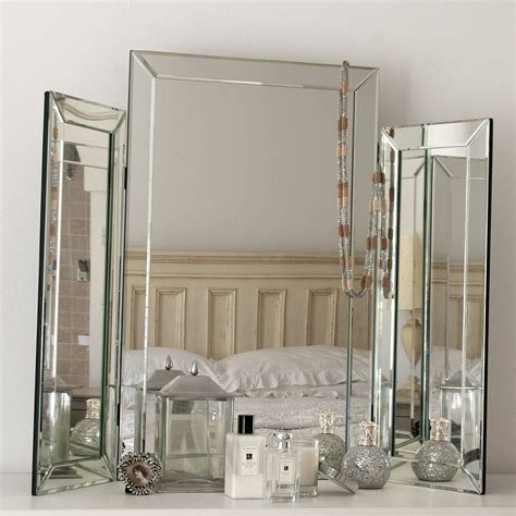 Small Bathroom Mirror Ideas by Large Bevelled Dressing Table Triple Mirror By Decorative
