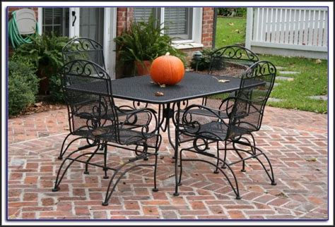 wrought iron patio furniture sets home depot patios