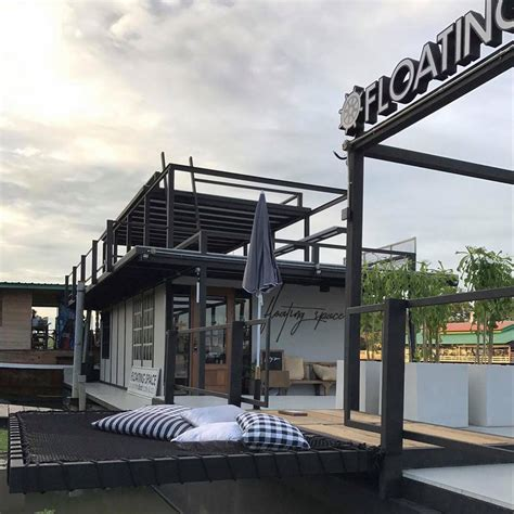 the boat cafe floating space by on the boat cafe and co หน าหล ก