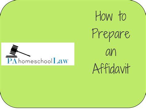 how to prepare a homeschool affidavit in pennsylvania