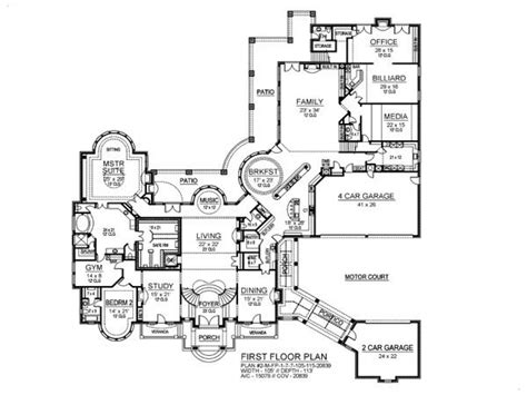 Bedroom House Plans by 7 Bedroom House Plans 8 Bedroom Ranch House Plans 7