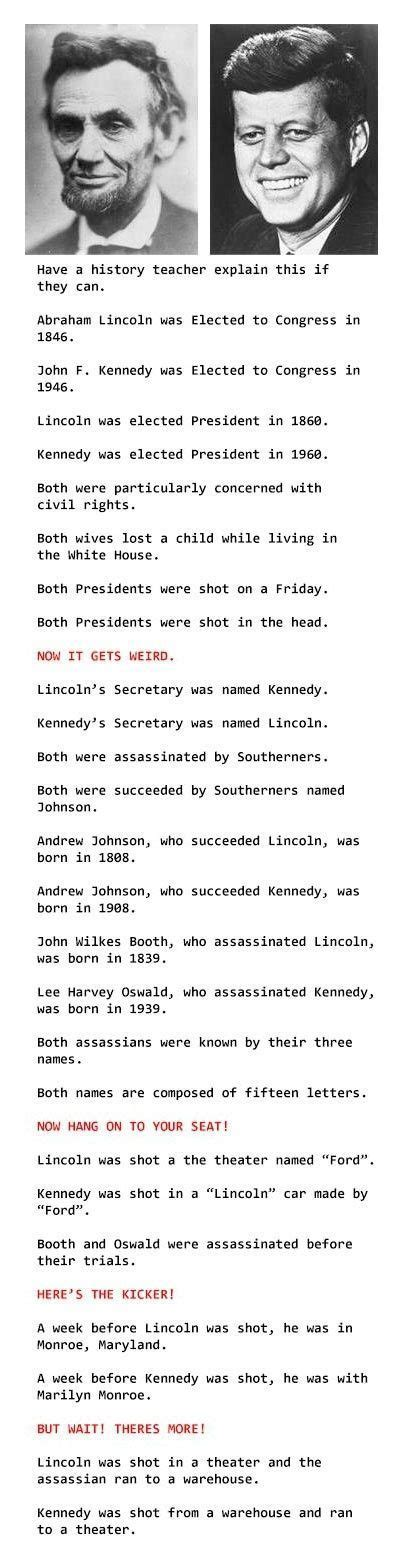 lincoln and jfk abraham lincoln f kennedy facts dummies of