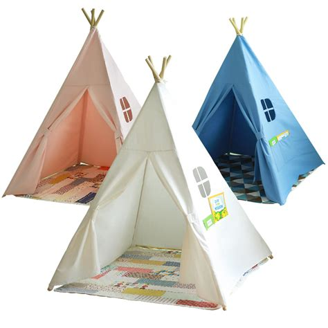 teepee tents for room four poles children teepees play tent cotton canvas teepee white playhouse for baby room