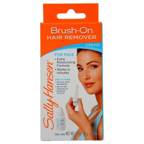 sally hansen hair removal creme directions om hair sally hansen brush on 1 7 ounce hair remover creme