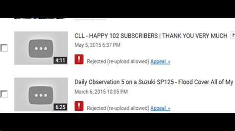 blogger upload failed server rejected youtube video rejected quot re upload allowed quot here is the