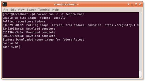 docker tutorial fedora how to interactively create a docker container