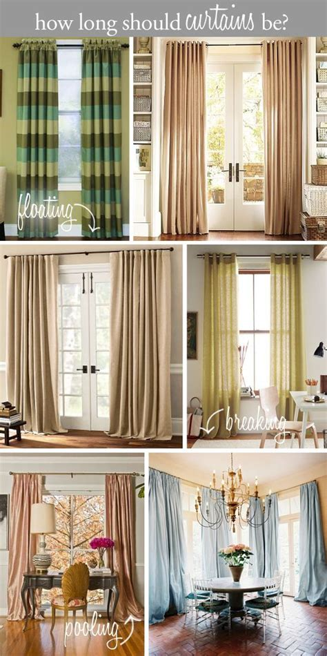 how long should bedroom curtains be design tip how long should curtains be floating above