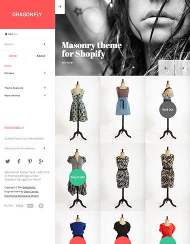 shopify themes masonry 100 premium shopify themes for ecommerce stores