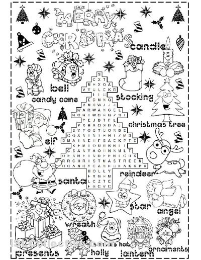 printable xmas activity sheets 7 best images of christmas printables for elementary