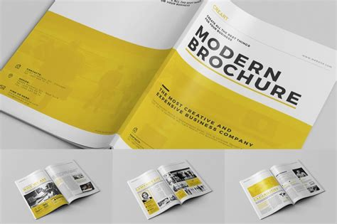 creative brochure design templates 70 modern corporate brochure templates design shack