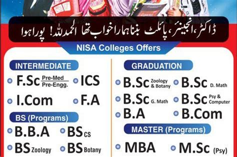 Mba Colleges Last Date Application 2018 by Nisa Colleges Admissions 2018 Form Last Date