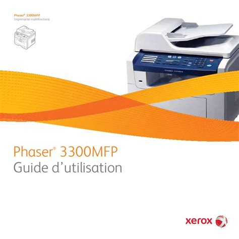 Xerox Cp235w Cover By M mode d emploi xerox phaser 3300mfp imprimante laser