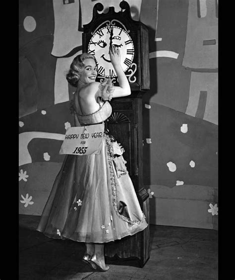 eaton new year shirley eaton sets the clocks in 1954 new year s