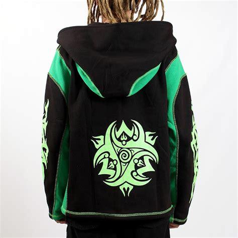 Teva Jacket gadogado vous a concoct 233 une veste zipp 233 en polaire 233 pais et aux tattoos tribal vert fluo pour