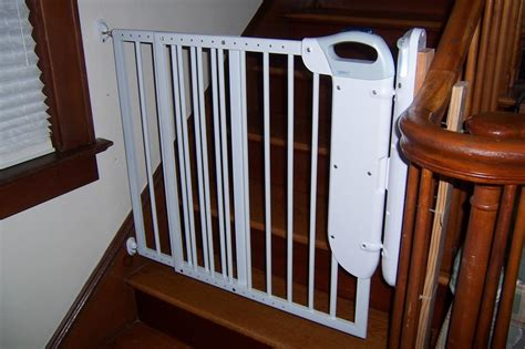 gate for top of stairs with banister the best baby gate for top of stairs design that you must