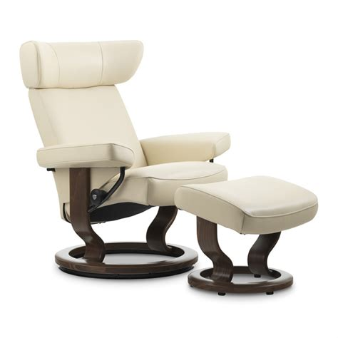 viva recliner stressless viva small recliner and ottoman classic wood