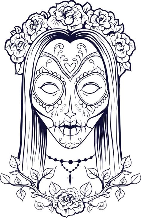 skull coloring pages for adults sugar skull coloring page 9 coloring skull coloring
