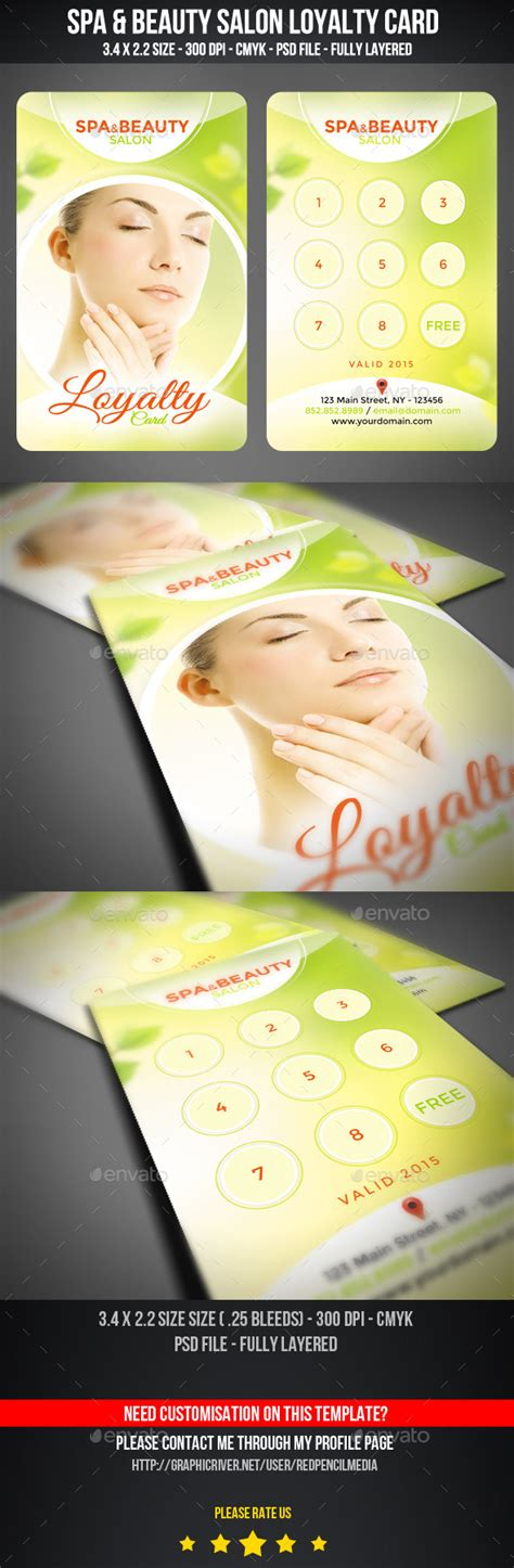 spa loyalty card template free template downloads for hairdressing salon loyalty