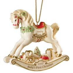 Personalized Wedding Christmas Ornament Rocking Horse Ornament Ornaments