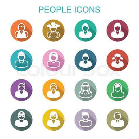free 9 flat long shadow icons vector titanui people long shadow icons flat vector symbols stock