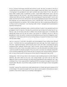 Of A Essay by Narrative Essay Julio 2