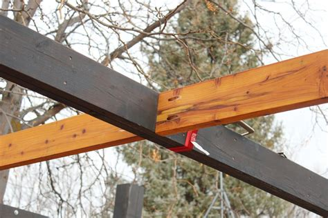 How To Install Modern Pergola Rafters Without Brackets Pergola Rafter Brackets