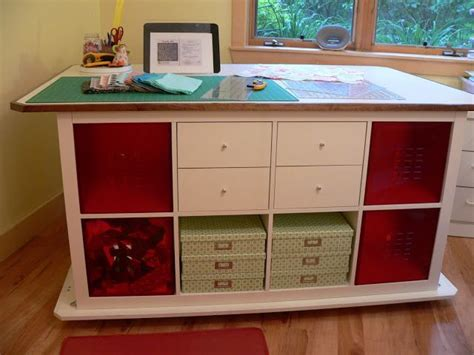 cutting table for sewing room asimplelife quilts cutting table sewing room storage idea