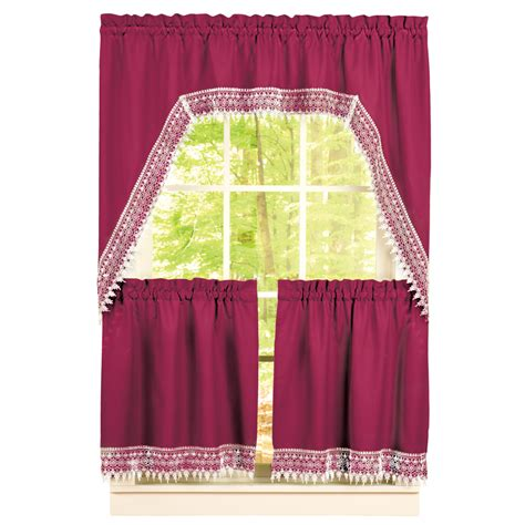 curtain tier sets lace curtain valances and tiers heritage lace woodland