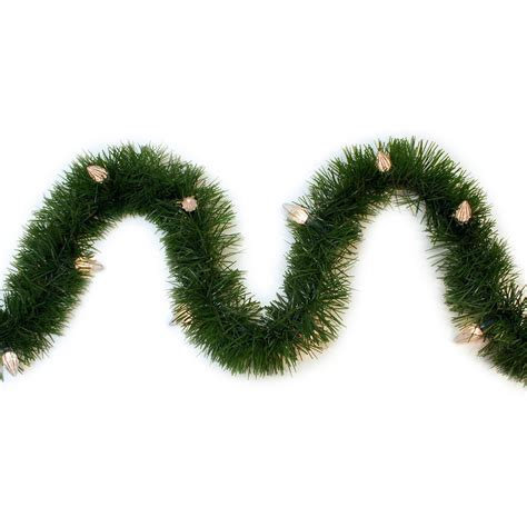outdoor pre lit garland shop ge 36 ft pre lit indoor outdoor pine artificial